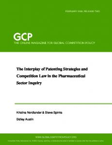The Interplay of Patenting Strategies and Competition Law in the Pharmaceutical Sector Inquiry