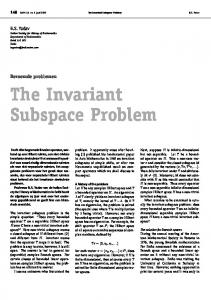 The Invariant Subspace Problem