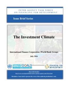 The Investment Climate