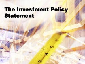 The Investment Policy Statement