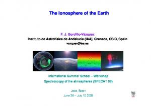 The ionosphere of the Earth