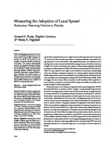 The issue of sprawl has become a major focus for planning researchers and practitioners