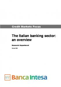 The Italian banking sector: an overview
