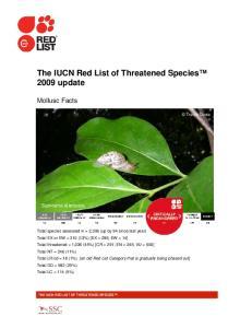 The IUCN Red List of Threatened Species 2009 update