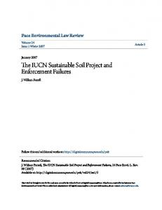 The IUCN Sustainable Soil Project and Enforcement Failures