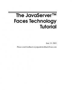The JavaServer Faces Technology Tutorial