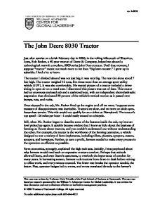 The John Deere 8030 Tractor