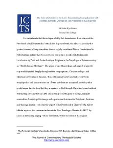 The Journal of Contemporary Theological Studies