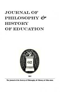 The Journal of the Society of Philosophy & History of Education