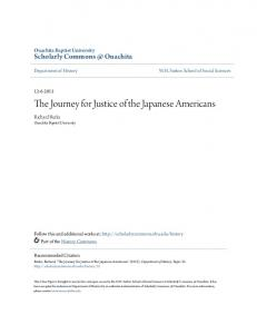 The Journey for Justice of the Japanese Americans