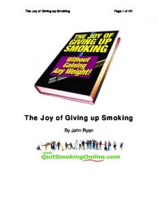 The Joy of Giving up Smoking