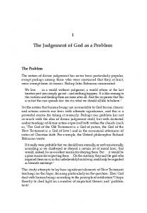 The Judgement of God as a Problem