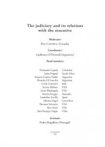 The judiciary and its relations with the executive