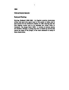 THE JUNGLE BOOK. Rudyard Kipling