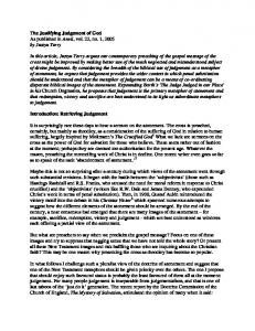 The Justifying Judgement of God As published in Anvil, vol. 22, no. 1, 2005 by Justyn Terry