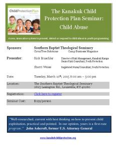 The Kanakuk Child Protection Plan Seminar: Child Abuse