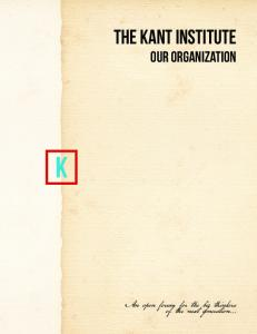 The Kant Institute Our Organization