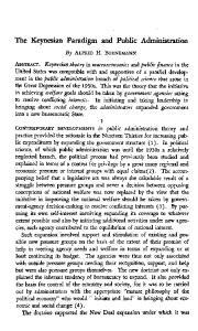 The Keynesian Paradigm and Public Administration