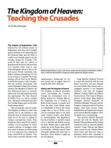 The Kingdom of Heaven: Teaching the Crusades
