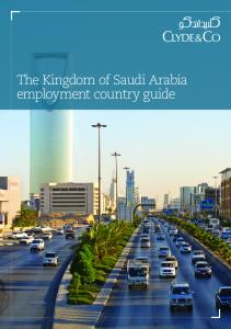 The Kingdom of Saudi Arabia employment country guide