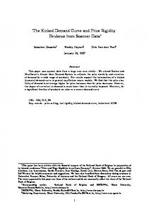The Kinked Demand Curve and Price Rigidity: Evidence from Scanner Data