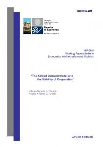 The Kinked Demand Model and the Stability of Cooperation