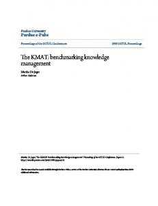 The KMAT: benchmarking knowledge management