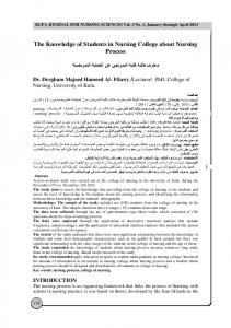 The Knowledge of Students in Nursing College about Nursing Process