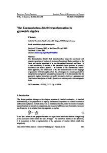 The Kustaanheimo Stiefel transformation in geometric algebra