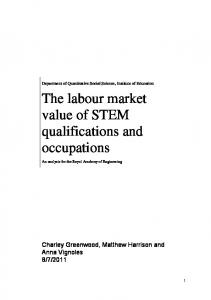 The labour market value of STEM qualifications and occupations