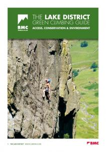 The Lake District THE LAKE DISTRICT GREEN CLIMBING GUIDE