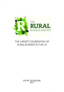 THE LARGEST CELEBRATION OF RURAL BUSINESS IN THE UK
