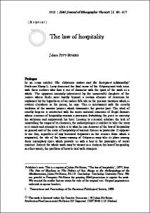 The law of hospitality