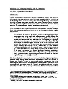 THE LAW RELATING TO GYPSIES AND TRAVELLERS. 1.Introduction