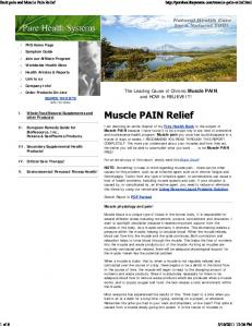 The Leading Cause of Chronic Muscle PAIN, and HOW to RELIEVE IT!