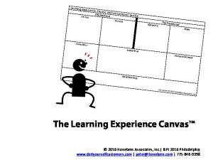 The Learning Experience Canvas