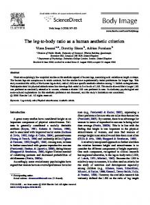 The leg-to-body ratio as a human aesthetic criterion