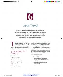 The leg-yield is the first movement