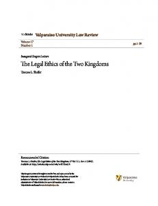 The Legal Ethics of the Two Kingdoms