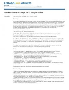 The LEGO Group - Strategic SWOT Analysis Review