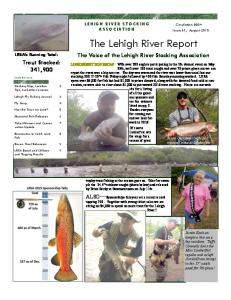 The Lehigh River Report