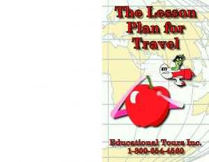 The Lesson Plan for Travel