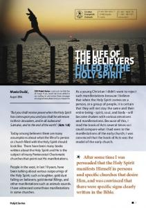 THE LIFE OF THE BELIEVERS FILLED BY THE HOLY SPIRIT