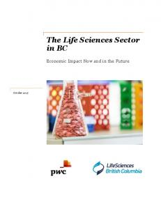 The Life Sciences Sector in BC