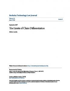The Limits of Claim Differentiation