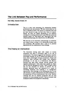 The Link Between Pay and Performance