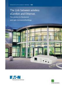 The Link between wireless xcomfort and Ethernet