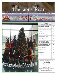 The Lions Roar. Inside This Issue DECEMBER 2015