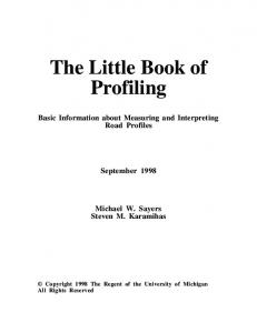 The Little Book of Profiling