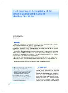 The Location and Accessibility of the Second Mesiobuccal Canal in Maxillary First Molar